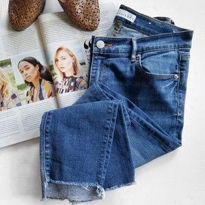 LOFT Step Hem Modern Skinny Jeans Distressed